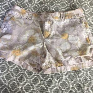 Ann Taylor Loft linen/cotton shorts size 8